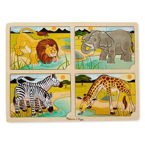 Melissa & Doug 4 in 1 Jigsaw Puzzle - Safari