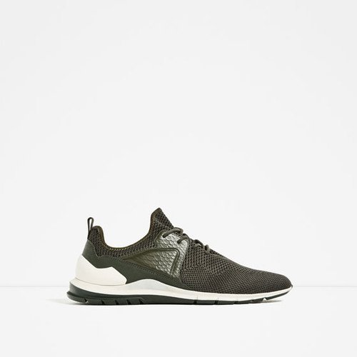 KHAKI MESH SNEAKERS - Sneakers-SHOES-MAN