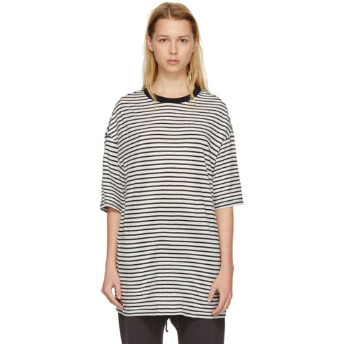 Black & White Striped Boyfriend T-Shirt