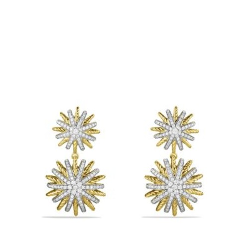 Starburst Double-Drop Earrings with Diamonds in G