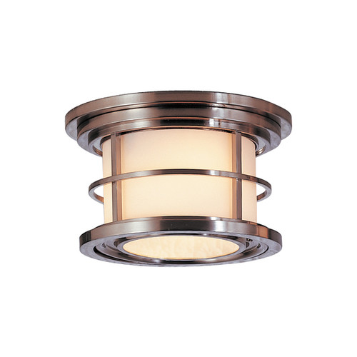 Feiss 1 - Light Ceiling Fixture, Brushed Steel