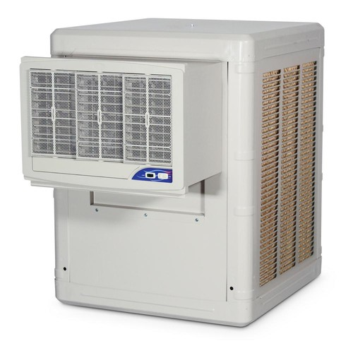 PMI Water Conservation Evaporative Cooler, Cools up to 1000 sq. ft., 1/3-HP 2-Speed Motor; High Efficiency Rigid Media