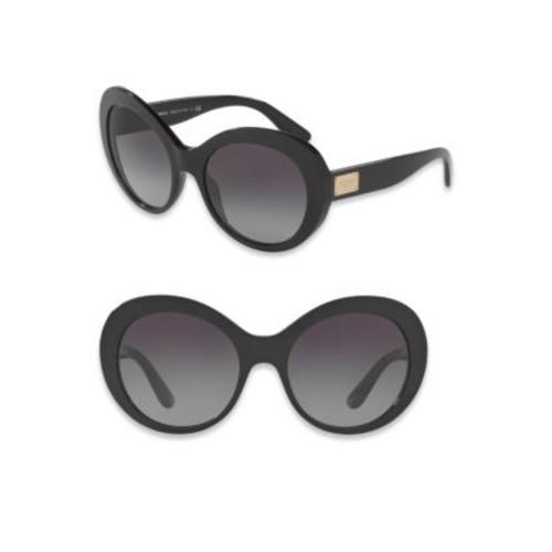 DOLCE & GABBANA 57Mm Leopard-Print Oval Sunglasses