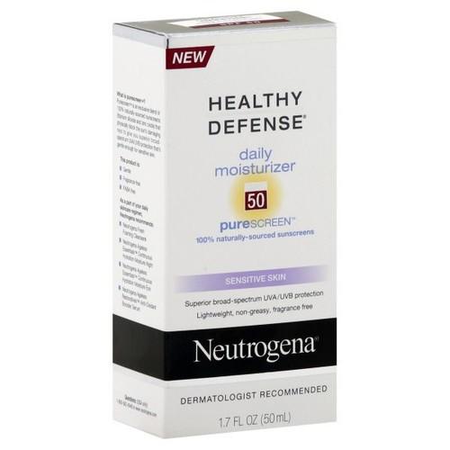Neutrogena Healthy Defense Moisturizer, Daily, Sensitive Skin, 1.7 fl oz (50 ml)