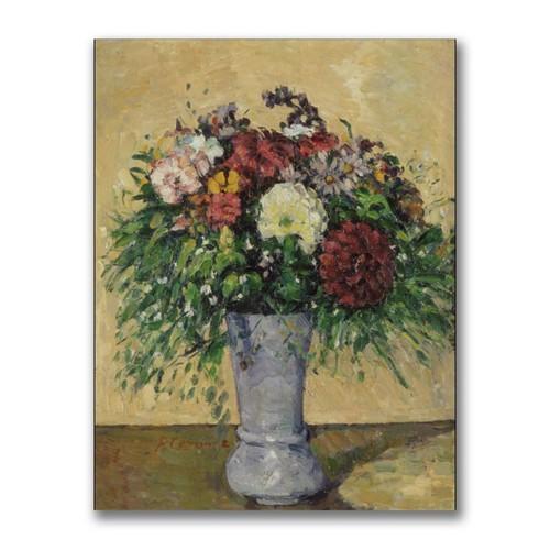 Trademark Fine Art Paul Cezanne 'Bouquet of Flowers in a Vase' Canvas Art 35x47 Inches