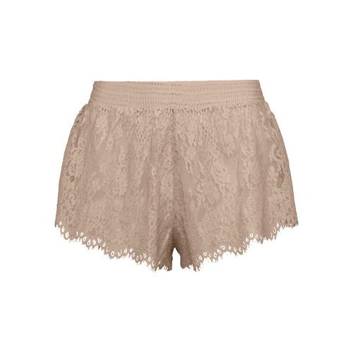 FENTY PUMA BY RIHANNA B-Ball Lace Pajama Shorts, Beige