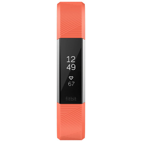 Fitbit Alta HR Fitness Tracker with Size Large Wristband - Coral