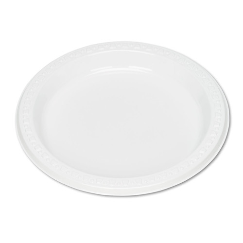 Tablemate TBL7644WH Plastic Dinnerware, Plates, 7