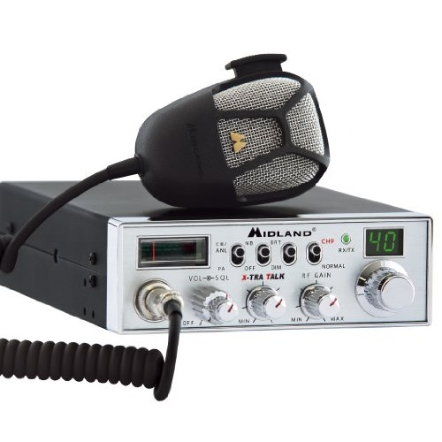 Midland 5001Z 40-Channel Mobile CB with Switchable Noise Filter, RF Gain PA and Instant Channel 9 (Refurbished)