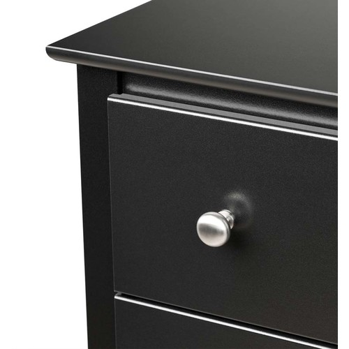 Prepac - Sonoma 2-Drawer Nightstand - Black