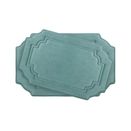 BounceComfort Calypso Marine Blue Memory Foam 2-Piece Bath Mat Set