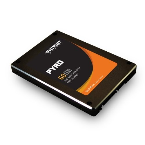 Patriot Pyro 60GB SATA 3 2.5 SSD - With Transfer Speeds of Up-To 550 MB/s read and 515 MB/s write - 85,000 IOPS [60GB]