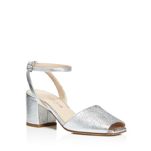 Women's Cube Metallic Mid Block Heel Sandals