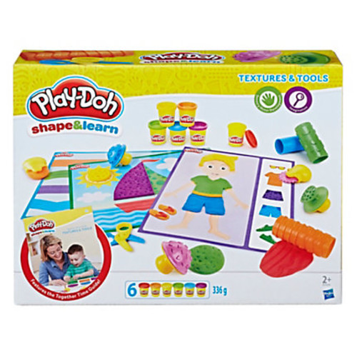 Play-Doh Education Shape And Learn Textures And Tools Set, Assorted Colors, Case Of 4 Sets