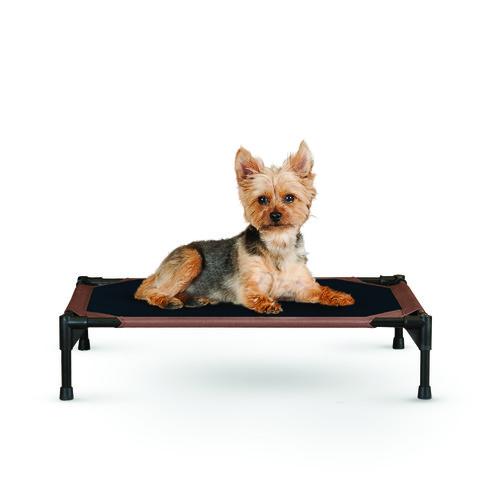 K&H Pet Products Original Pet Cot, Small, Chocolate/Black, 17