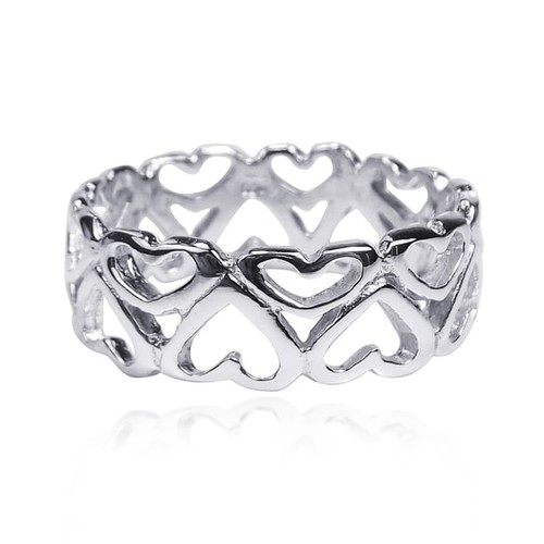 Handmade Amazing Heart Bonds of Love .925 Sterling Silver Ring (Thailand)