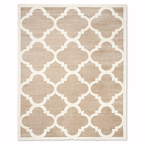 Safavieh Amherst Geo 9-Foot x 12-Foot Indoor/Outdoor Rug in Wheat