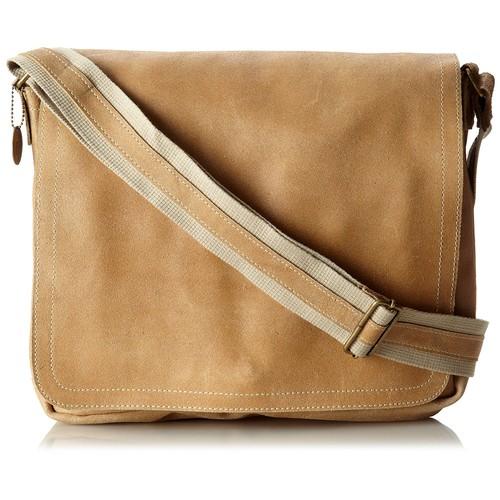 David King & Co. Leather Full Flap Laptop Messenger L Distressed, Tan, One Size [Tan]