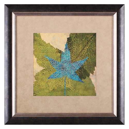Art Effects Teal Leaf II Framed Wall Art