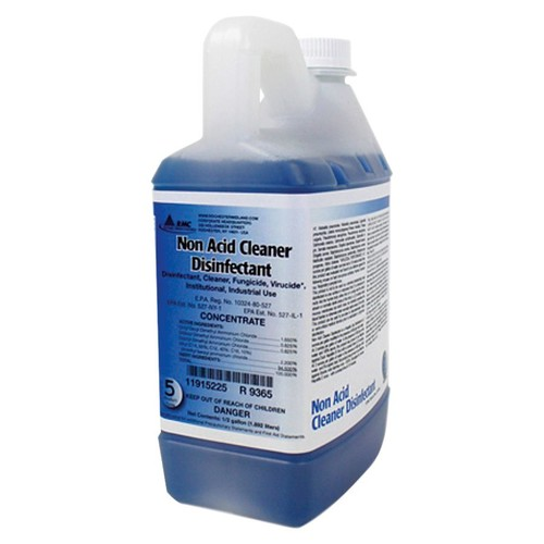 Rochester Midland Non-Acid Cleaner Disinfectant, 0.5 Gallon, Pack Of 4