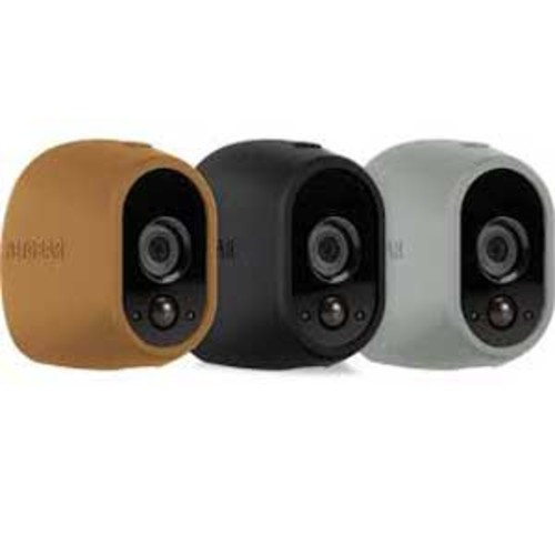 Arlo Smart Security - 3 Silicone Skins for 100% Wire-Free Cameras (Brown/Black/Grey) : VMA1200D-10000S