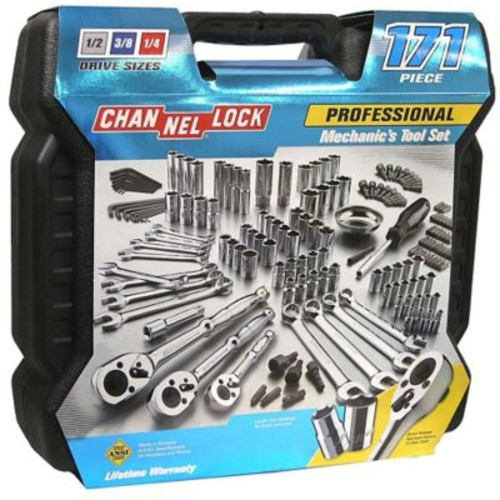 Channellock Professional Mechanics Tool Set, 171 Pieces