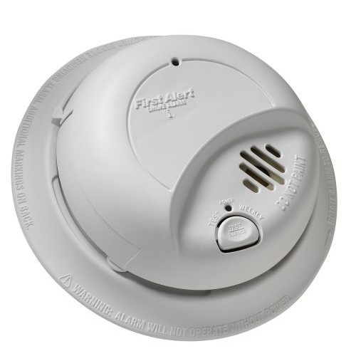 First Alert BRK 9120BFF Hardwired Smoke Alarm with Battery Backup, Single [1 Pack]
