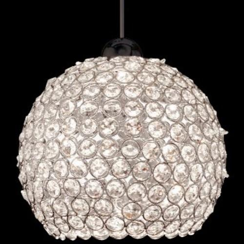 Roxy Mini Pendant [Shade Color : Clear; Light Option : Halogen; Finish : Brushed Nickel]