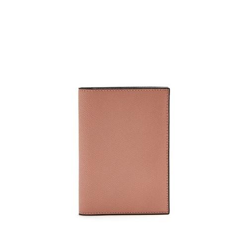 Grained-leather passport holder