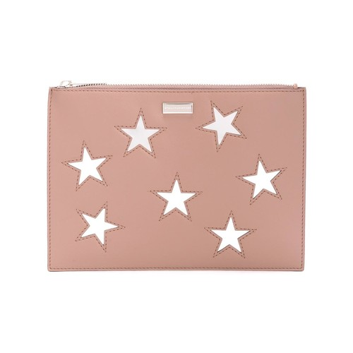 embroidered Stars clutch bag