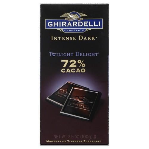 Ghirardelli Chocolate Dark Chocolate, Twilight Delight, 72% Cacao 3.5 oz (100 g)