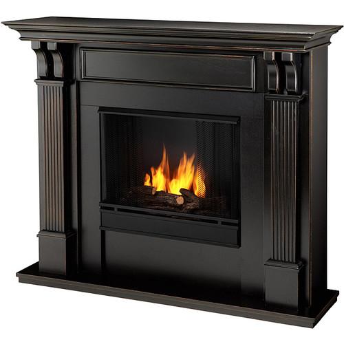 Real Flame Blackwash Ashley 48.03 in. L x 13.78 W x 41.25 in. H Gel Fireplace
