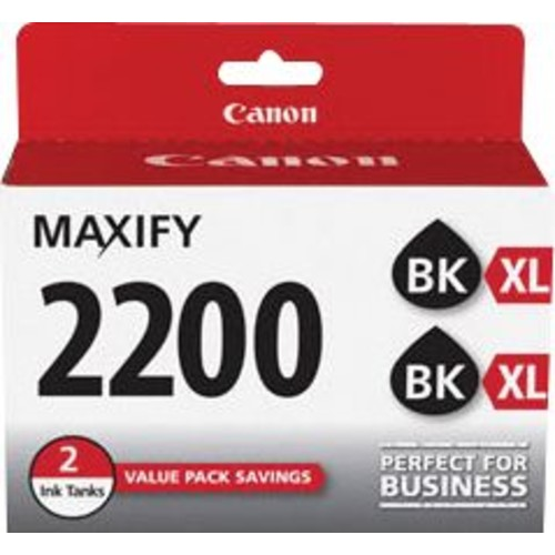 Canon PGI-2200 XL Black Ink Cartridges, (9255B006) High Yield 2/Pack