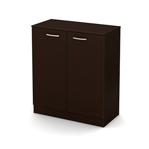 South Shore Axess 2-Door Particleboard Storage Cabinet, 2 Shelves, Chocolate