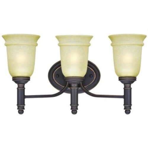 Westinghouse Montrose 3-Light Oil Rubbed Bronze with Highlights Wall Fixture