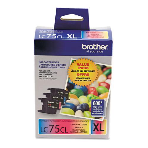 Brother BRTLC753PKS LC753PKS Innobella High-Yield Ink, Cyan/Magenta/Yellow, 3/PK