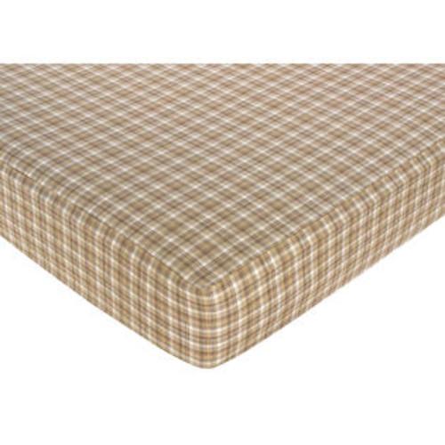 Sweet Jojo Designs Plaid Fitted Crib Sheet