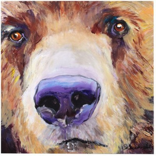 The Sniffer by Pat Saunders-White, 14x14-Inch Canvas Wall Art [14 by 14-Inch]