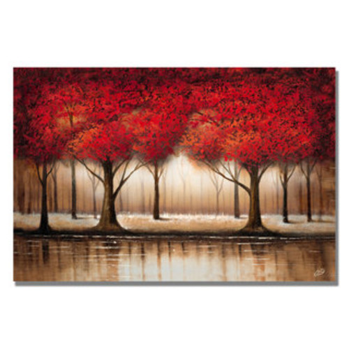 Kathie McCurdy 'Enchanted Garden' Canvas Wall Art [option : 30x47 Wrapped Canvas Art]