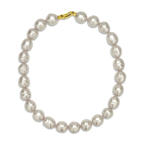 Baroque Simulated Pearl Collar Necklace, 17