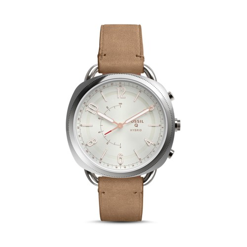 Q Accomplice Slim Hybrid Leather Smartwatch, 38mm