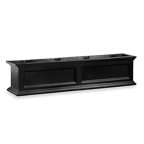 Mayne Fairfield 4-Foot Window Box in Black