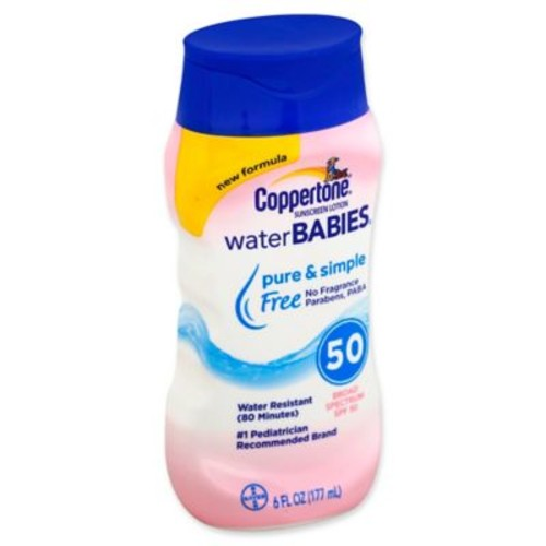 Coppertone Water BABIES Pure & Simple 6 fl. oz. Sunscreen Lotion with SPF 50