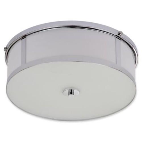 Safavieh Avery 2-Light Flush-Mount Ceiling Lamp in Chrome
