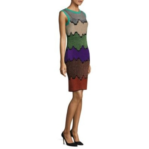 MISSONI Sleeveless Colorblock Sheath Dress