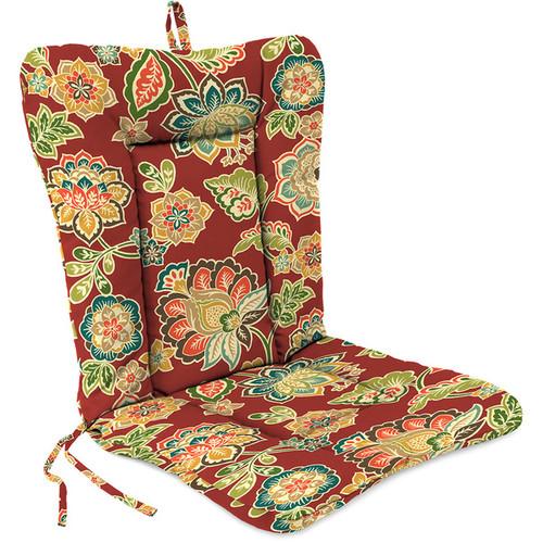 Jordan Manufacturing Spun Polyester Dejana Sangria Euro Style Chair Cushion