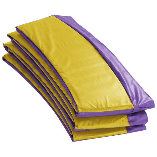 Upper Bounce Super Trampoline Replacement Safety Pad (Spring Cover) Fits for 9 ft. Round Frames - Purple/Yellow