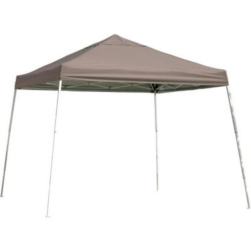ShelterLogic 12' x 12' Slant Leg Pop-up Canopy with Black Roller Bag, Desert Bronze Cover