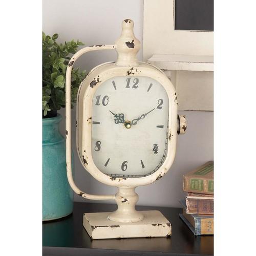 14 in. x 8 in. Classic Iron Rectangular Table Clocks (2-Pack)