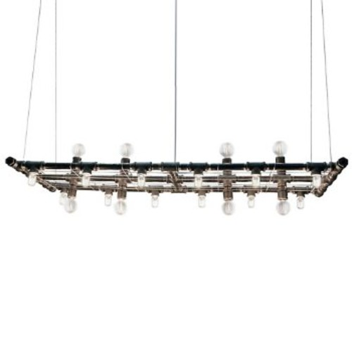 Michael McHale Designs The Raw Chandelier [Finish : Black Steel]